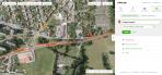 Mapa místa záznamu možného denního bolidu v Hradci Králové 31.3.2015