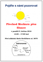 Přechod Merkuru 2016 Chomutov Autor: Jaroslav Landa DiS