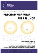 Pozorování přechodu Merkuru přes Slunce 9. května 2016 na Hvězdárně v Hradci Králové. Autor: Hvězdárna a planetárium HK.