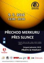Pozorování přechodu Merkuru přes Slunce 9. května 2016 na pardubické hvězdárně. Autor: Hvězdárna b. A. Krause Pardubice.