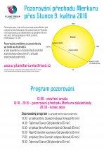 Pozorování přechodu merkuru před Sluncem 9. května 2016 v Ostravě. Autor: Hvězdárna a planetárium Ostrava.