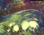 Typické MCS (MCC) bouře s hojnou produkcí TLE Autor: Meteosat