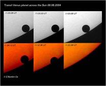 Přechod Venuše přes sluneční disk, 8.6.2004. Autor: Zdeněk Bardon
