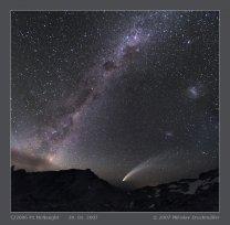 Tři galaxie a kometa McNaught. Autor: Miloslav Druckmüller