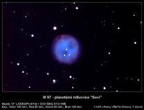 Soví mlhovina M97. Autor: Tomáš Hynek