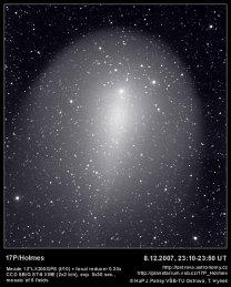 Kometa 17P Holmes. Autor: Tomáš Hynek