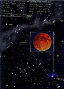 Obloha během úplného zatmění Měsíce 9. listopadu 2003 Autor: Petr Horálek