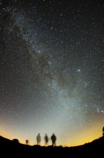 Temné nebe a Zodiakální světlo Autor: Tomáš Maruška