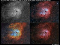 Multispektrální snímky mlhoviny IC 410 Autor: Pavel Pech