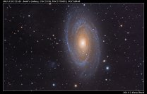 Galaxie M81 Autor: Pavel Pech