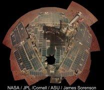 čisté solární panely Opportunity sol 3611-3613 Autor: NASA/JPL-Caltech