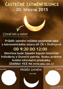 Pozorování slunečního zatmění 20. března v Ondřejově Autor: Lenka Kopřivová, AsÚ Ondřejov
