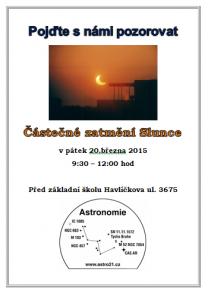 Pozorování zatmění Slunce 20. března 2015 v Chomutově Autor: Astronomie-Chomutov
