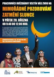 Pozorování zatmění Slunce 20. března 2015 na vsetínské hvězdárně Autor: Hvězdárna Vsetín