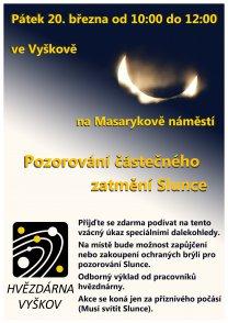 Pozorování zatmění Slunce ve Vyškově 20. 3. 2015