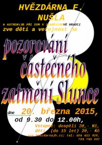 Hvězdárna Jindřichův Hradec a pozorování zatmění 20.3.2015
