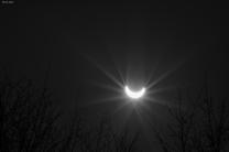 Částečné zatmění Slunce 20. března 2015 v Česku. Autor: Marián Runkas