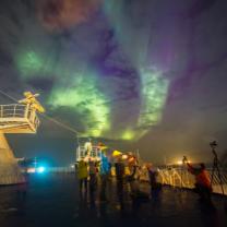 Vlny aurory nad Tórshávnem. Autor: Petr Horálek