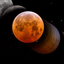 Zatmění Měsíce 8. října 2014 na Novém Zélandu. Autor: Petr Horálek