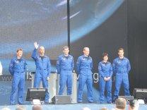 První veřejné vystoupení oddílu kosmonautů ESA v roce 2009 v Kolíně nad Rýnem. Luca Parmitano se hlásí... Autor: Tomáš Přibyl.