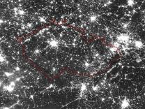 Česká republika 18. března 2015 na snímku družice Suomi-NPP. Autor: Družice Suomi NPP/DNB.