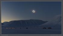Zatmění Slunce 20. března 2015 nad Špicberky. Autor: Miloslav Druckmüller