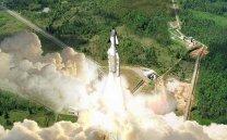 Jako první počítal s pilotovanými lety z Kourou raketoplán Hermes. Autor: ESA.