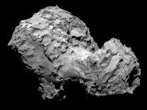 Detail komety 67P/Churyumov-Gerasimenko Autor: ESA/Rosetta