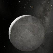 Trpasličí planeta Eris a její měsíc – kresba Autor: NASA, ESA, and A. Schaller (for STScI)