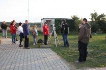 Pozorování Slunce ve Vlašimi při Noci vědců 2015
