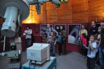 Noc vědců 2015 v kopuli hvězdárny v Hradci Králové