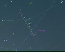 Mapka poloh komety C/2013 US10 (Catalina) Autor: Guide 9