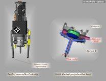 Schématický pohled na vrtačku Curiosity Autor: NASA/JPL-Caltech