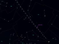 Mapka poloh (pro 6:00) komety C/2013 US10 (Catalina) v lednu 2016. Data: Guide 9