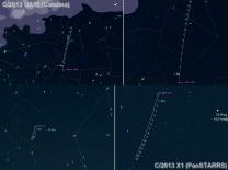 Orientační mapky únorových komet. Data: Guide 9