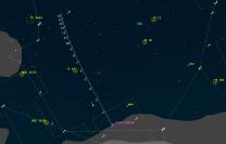 Mapka poloh komety 252P v 13. a 14. týdnu 2016. Data: Guide 9