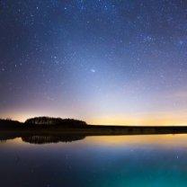 Zvířetníkové světlo nad Krounou. Autor: Michal  Vařečka