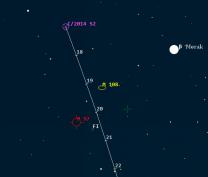 Kometa 2014 S2 u M97 a M108