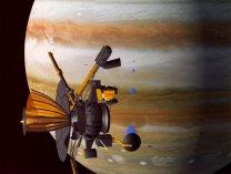 Sonda Galileo u Jupiteru na kresbě Autor: NASA