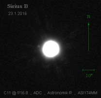 Sirius B na vynikajícím snímku amatérského astrofotografa Autor: Karel Sandler