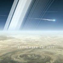 Cassini zaniká v atmosféře Saturnu 15. 9. 2017. Představa animátora. Autor: NASA