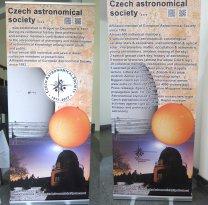 Česká astronomická společnost přiblížila své poslání a stoletou činnost dvěma panely Autor: Jiří Grygar