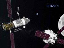 Ke stanici DSG přilétá loď Orion Autor: NASA