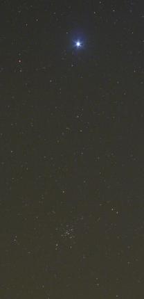 Sirius ve Velkém psu a otevřená hvězdokupa M 41 Autor: Martin Gembec