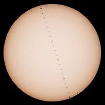 Tranzit ISS přes Slunce Autor: Pavel Repaský