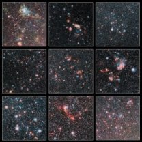 Vybrané detailní pohledy do Velkého Magellanova oblaku z přehlídky dalekohledu VISTA Autor: ESO/VMC Survey