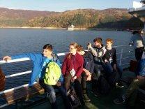 Český tým na lodi na jezeře Lacul Izvorul Muntelui Autor: Jan Kožuško