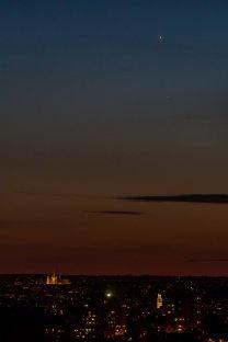 Venuše a Merkur a Pražský hrad Autor: Ales Pavelka