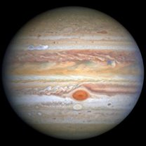 Snímek planety Jupiter pořídil HST dne 25. 8. 2020 v době, kdy byla planeta vzdálena od Země 653 milióny kilometrů Autor: NASA/ESA/A. Simon, NASA's Goddard Space Flight Center/M.H. Wong, University of California, Berkeley/