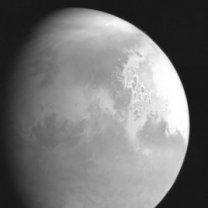 Mars z čínské sondy Tianwen-1 ze vzdálenosti 2,2 mil. km z doby asi týden před příletem Autor: CNSA/PEC (Planetary Exploration of China)